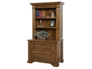 Lincoln Lateral File Cabinet with Bookshelf