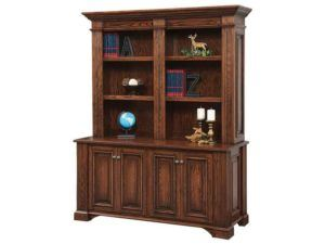 Lincoln 62 Inch Double Base with Bookcase Hutch