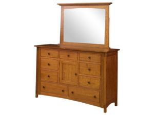 McCoy 9 Drawer, 1 Door Dresser