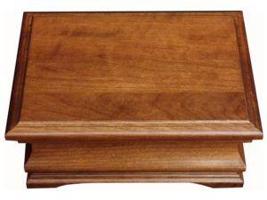 Medium Cherry Solid-Wood Jewelry Box