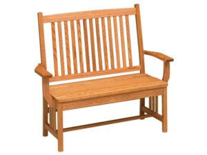 Mission Hardwood Deacon Bench