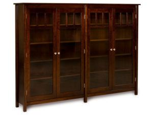 Mission Style Double Bookcase