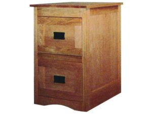 Mission Style File Cabinet with Framed Drawer Fronts