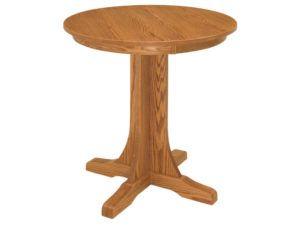 Single Pedestal Mission Pub Table