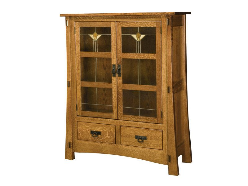 Amish Modesto Two Door Cabinet With Glass Panels