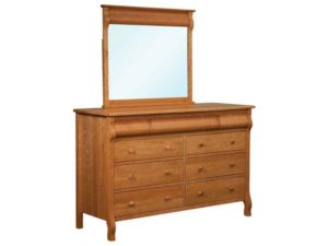 Pierre 9 Drawer Dresser with Mirror