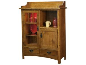 Solid Wood Pottery Cabinet