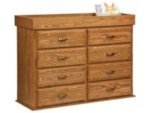 Reversible Eight Drawer Changer Dresser