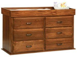 Reversible Six Drawer Changer Dresser