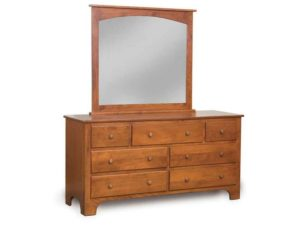 Ridgecrest Shaker 7 Drawer Dresser with Mirror