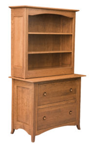 Shaker Hill Hardwood Lateral File Cabinet with Hutch