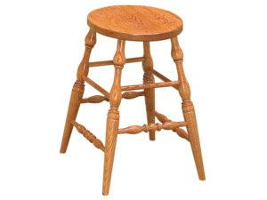 Scoop Seat Stationary Bar Stool