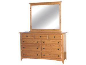 Shaker 9 Wood Drawer Dresser