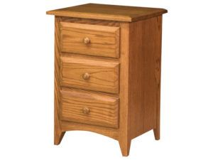 Shaker Three Drawer Bedside Chest