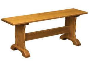 Traditional Wood Trestle Bench