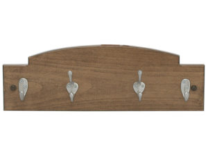 Hardwood Two Hook Coat Rack - Two Hook Key Holder