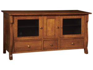 Wellington Three Drawer, Three Door Plasma Stand