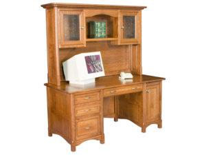 Westlake Style Straight Desk with Hutch