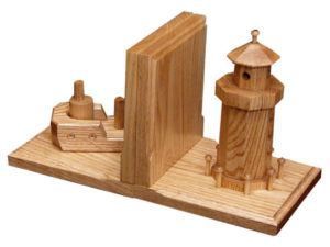 Boat-Lighthouse Bookends