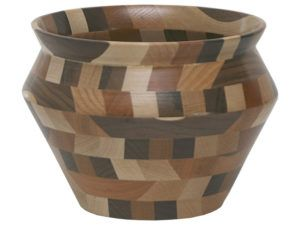 Mixed Wooden Vase Bowl