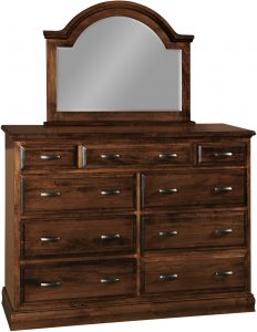 Wooden Adrianna Nine Drawer Dresser