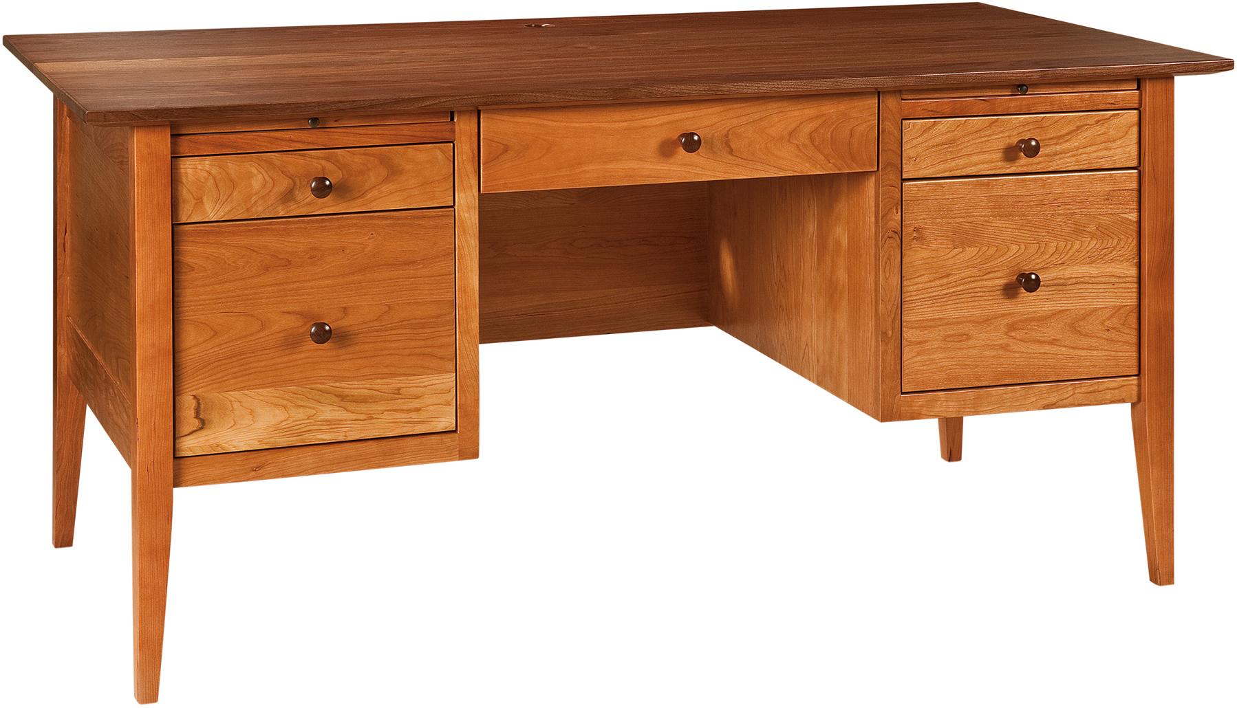 Custom Handcrafted Hardwood Alamo Amish Desk