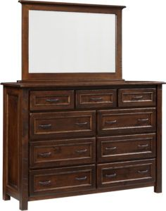 Belwright Hardwood Dresser and Mirror