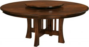 Arts and Crafts Round Dining Table