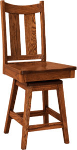 Aspen Hardwood Swivel Bar Stool