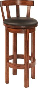 Short-Back Barrel Barstool