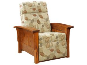 Barwick Panel Style Push Back Recliner