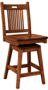 Bay Hill Hardwood Swivel Bar Stool