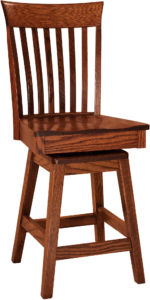 Beckley Hardwood Swivel Bar Stool