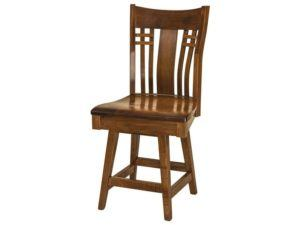Bennett Hardwood Swivel Bar Stool