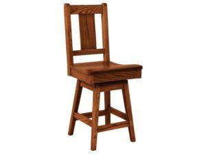 Benson Hardwood Swivel Bar Stool