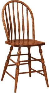 Bent Feather Bar Stool