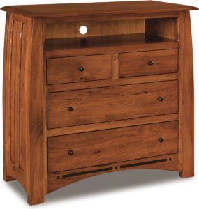 Boulder Creek Four Drawer Media Chest