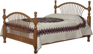 Bow Sheaf Hardwood Bed