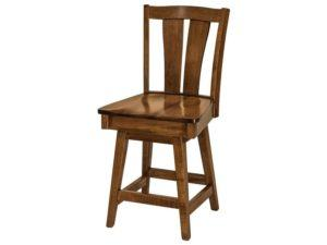Brawley Hardwood Swivel Bar Stool