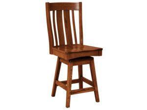 Breckenridge Hardwood Swivel Bar Stool