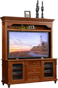 Bridgeport TV Console and Hutch