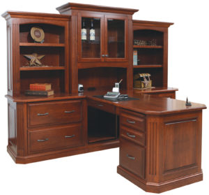 Buckingham Partner Desk and Hutch