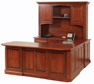 Buckingham U Desk with Hutch