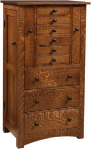 Deluxe Bungalow Mission Jewelry Armoire