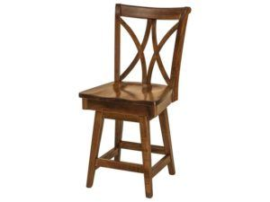 Callahan Hardwood Swivel Bar Stool