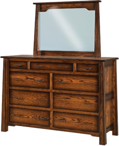 Cambridge 9 Drawer Dresser and Mirror