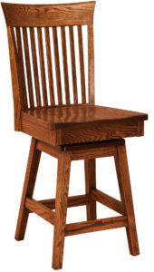 Carlisle Hardwood Swivel Bar Stool