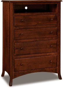 Carlisle Tall Four Drawer Media Chest