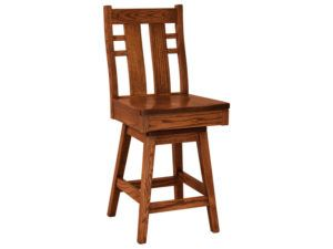 Cascade Hardwood Swivel Bar Stool
