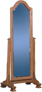Cathedral Hardwood Cheval Mirror